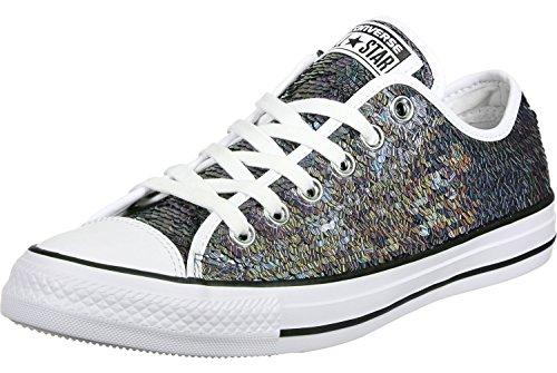 Calzado Deportivo para Mujer, Color Plateado, Marca Converse, Modelo Calzado Deportivo para Mujer Converse Chuck Taylor All Star Holiday Party Plateado