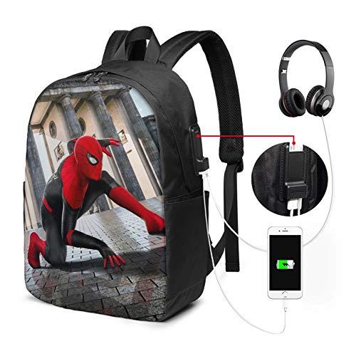 Lofeeke Laptop Backpack 17 Inch Tom-Holland Knapsack Travel Bag with USB Charger Port