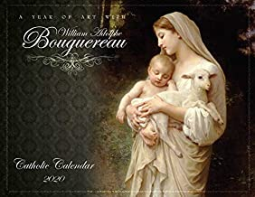 """Catholic Religious Liturgical Wall Calendar 2020: A Year of Art with William Bouguereau Monthly 11""""x8.5"""" 
