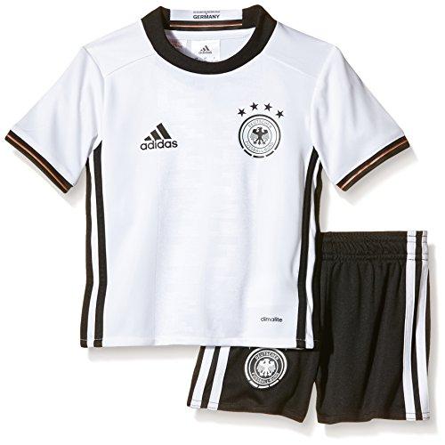 adidas Kinder Trikot UEFA EURO 2016 DFB Mini-Heimausrüstung, White/Black, 116