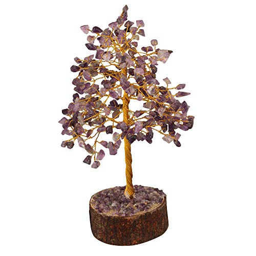 Fashionzaadi Amethyst Crystal Tree Gemstone Money Feng Shui Bonsai Trees For Good Luck Chakra Stone Healing Crystals Home Office Living Room Decor Gift Size 10 Inch Golden Wire Buy Online In Bahamas