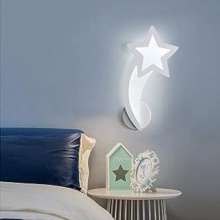Goeco Lampe murale LED 10W, Applique murale météore intérieure, Luminaires Muraux en acrylique pour Couloir Chambre d'esca...