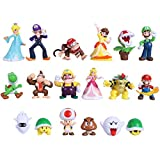 Max Fun 18pcs Mario Brothers Figures Kids Toys Cake Toppers Collection Playset