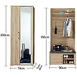 GO Garderoben Set in heller Sonoma Eiche Optik - moderne Softclose Flurgarderobe für Ihren Eingangsbereich - 268 x 200 x 40cm (B/H/T) - 7