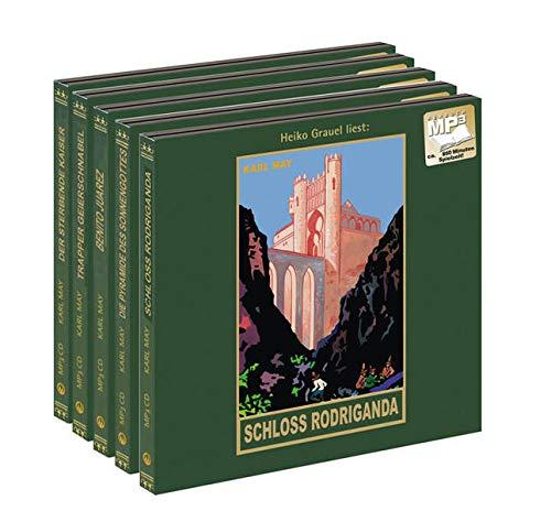 """Die Rächerjagd rund um die Erde: Von """"Schloss Rodriganda"""" bis """"Der sterbende Kaiser"""", Band 51-55 der Gesammelten Werke als mp3-Hörbuch"""