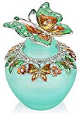 YU FENG Empty Refillable Glass Perfume Bottle,Retro Frosted Butterfly Lid Perfume Bottle (Butterfly)