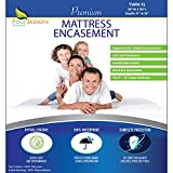 Twin Extra Long (XL) Mattress Protector Zippered Waterproof Encasement Hypoallergenic Premium Quality Cover Protects Against Dust Allergies