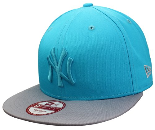Casquette New York Yankees Snapback Cap Pop Tonal de New Era in turquoise/grey | Taille S/M