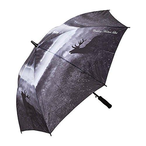 Parapluie cerf rugissant avec ouverture automatique – Photographie de cerf noir et blanc
