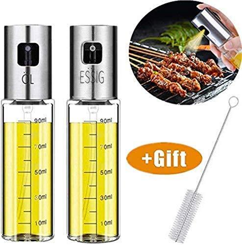 Nifogo Pulverizador Aceite - Oil Sprayer,Pulverizador de Aceite Portátil Aceite Pulverizador de vinagre y Aceite,para Dispensador de condimentos Ideal y portátil para Barbacoa,Cocina Diurna (2PCS)