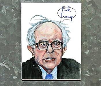 Bernie Sanders Fuck Trump Magnet