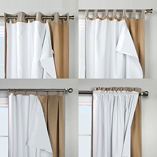 ThermaPlus Superior Liner Blackout Curtain Lining, by Commonwealth Home Fashions (45' Wide by 77' Long)