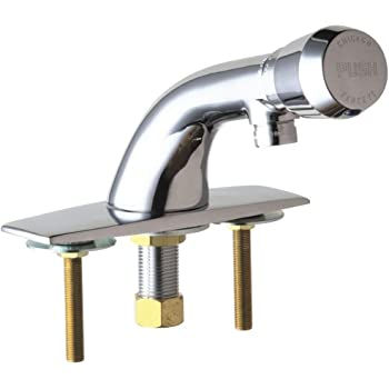 Chicago Faucets 857-E12-665PSHABCP Metering Single Hole Faucet Polished Chrome