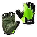 Eroilor Ciclismo, guanti corti da ciclismo, per mountain bike, estivi, per uomo e donna, colore verde, taglia XL
