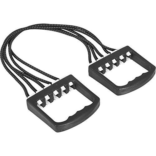 GORILLA SPORTS® Expander 5-fach verstellbar Schwarz/Gelb – Widerstandsband mit 5 Strings bis 50 kg Zugkraft