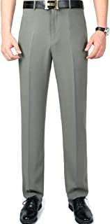 Mogogo Men's Relaxed Business Straight No-Iron Wrinkle Resistant Dress Pant