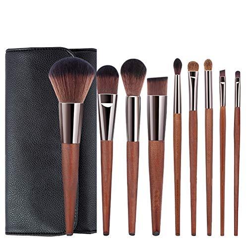 9 make-up borstel set volledige set van beginner make-up tools borstel stichting borstel losse poeder oogschaduw borstel lip wenkbrauw met opbergzak