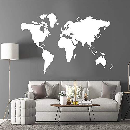 AKmene Mapa del Mundo Etiqueta de la Pared Etiqueta de la Pared Habitación para Adolescentes Sala de Estar Decoración del hogar Etiqueta de la Pared 57X86cm