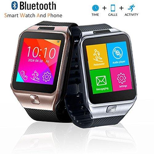 inDigi innovador SWAP2teléfono Identificador de llamadas–Cámara espía inalámbrica Bluetooth muñeca reloj inteligente Unlocked at & T/T-Mobile (plateado)