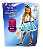 Alice in Wonderland Costume Alice Child X-L 14-16 Five Piece Costume Blue
