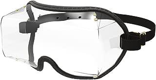 Kroops VFR Skydiving Sports Fit-Over Black Goggle Clear Lens