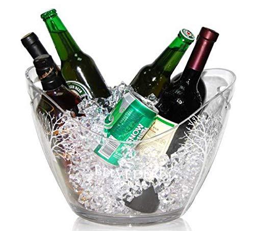 【morningplace】 アクリル ワイン シャンパン クーラー バレル クリア パーティー 大型 容量 8リットル (1個)