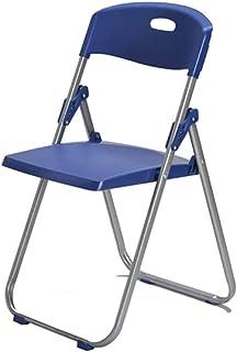 UCYG Sillas Plegables Oficina Camping Jardin Exterior, Silla Plegable Cocina Ligera Metal, Carga Máx 150 kg, 82x40x38cm (Color : Blue)