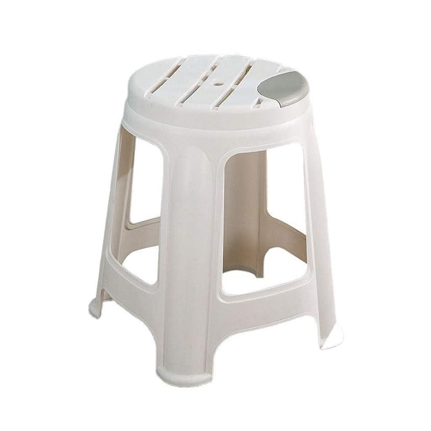 勇者海ダーツ積み重ね可能なプラスチックスツール、快適な ホームスツール化粧スツールデスクスツールドミトリースツール学生スツール多機能スツール (Color : White)