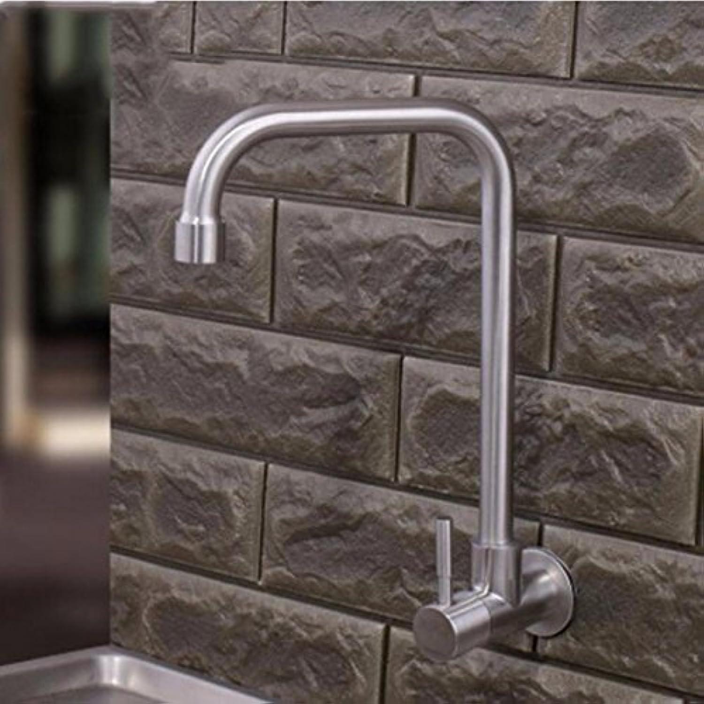 NewBorn Faucet Küche Oder Badezimmer Waschbecken Mischbatterie 304 Edelstahl Erkltung in der Wand montiert Leitungswasser Wand Teller Waschbecken 4 000 zu Drehen, die Wasserhhne Ein