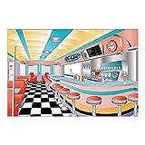 Fun Express - Rockin 50s Backdrop Banner for Party - Party Decor -...