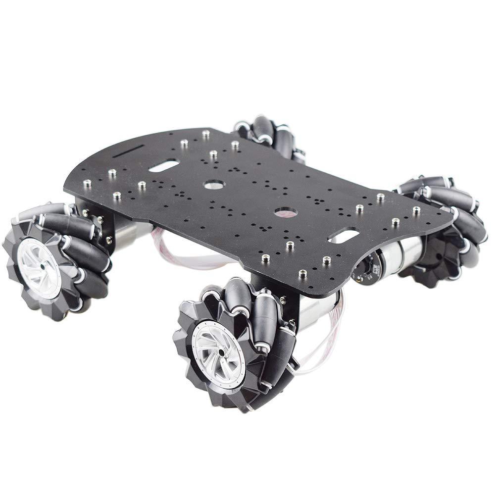 Nrpfell Mecanum Rad Roboter Car Kit mit 4 St/ücke 12 V Drehzahlgeber Motor Roboter Plattform Chassis Maximale Belastung 15 KG f/ür