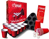 Original Cup - Original Beer Pong Kit Officiel Qualit Premium - 22 Grands Gobelets Amricains - 2 Triangles avec Emplacements - 4 Balles de Beer Pong - Rgles Officielles du Beer Pong - Jeu de Soire - Jeu  Boire