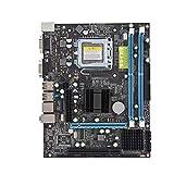 Placa Base para computadora G31, Placa Base para computadora LGA 775 DDR2 de Doble núcleo, Compatible con PCI-E/SATA / RJ45 / VGA, Chip de Audio Integrado de 6 Canales, para Intel G31