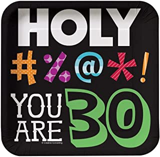 Creative Converting Holy Bleep You're 30 7-inch Birthday Paper Plates 8 Per Pack