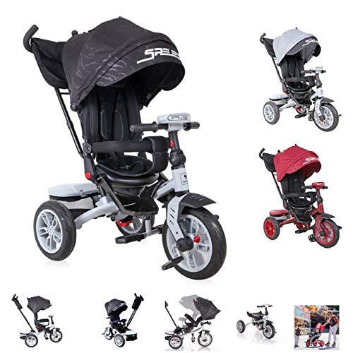 Lorelli Tricycle Speedy, Luftreifen, drehbarer Sitz, Musik, Licht, Schubstange, Farbe:schwarz