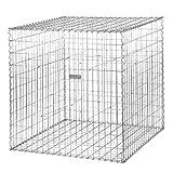 bellissa Spiral-Gabione PROFI - 97124 - Gabionenkorb mit Spiralverbindung - Dekorativer Steinkorb als Zaun oder Mauer für den Außenbereich - 100 x 100 x 100 cm