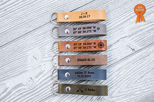 Custom Leather Keychain | Personalized Keychain - USA