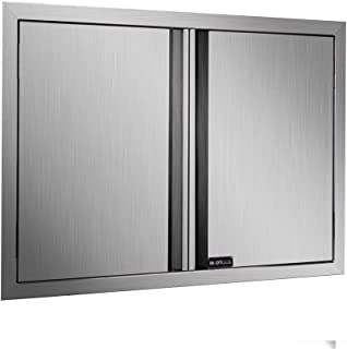 BI-DTOOL Double BBQ Access Door 304 Brushed Stainless Steel BBQ Island Doors for Outdoor Kitchen, Outdoor Cabinet, Barbeque Grill or BBQ Island (31
