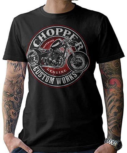 NG articlezz Herren T-Shirt Shirt Biker Oldschool Chopper Schrauber