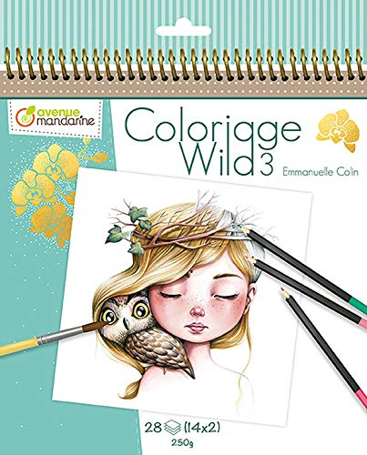 Avenue Mandarine – Cuaderno de colorear Wild 3 by Emmanuelle Colin (Edición colector) (GY077C)