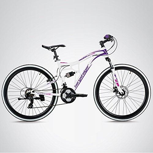 Bergsteiger Kodiak 24 Zoll Kinderfahrrad, geeignet für 8, 9, 10, 11 Jahre, Scheibenbremse, Shimano 21 Gang-Schaltung, Mountainbike mit Vollfederung, Mädchen-Fahrrad - 3
