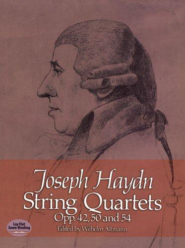 Haydn Joseph String Quartets Op 42 50 54 Study Score (Dover Chamber Music Scores)