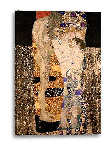 Stampa su tela (80x120cm): Gustav Klimt Le tre età della vita di una donna