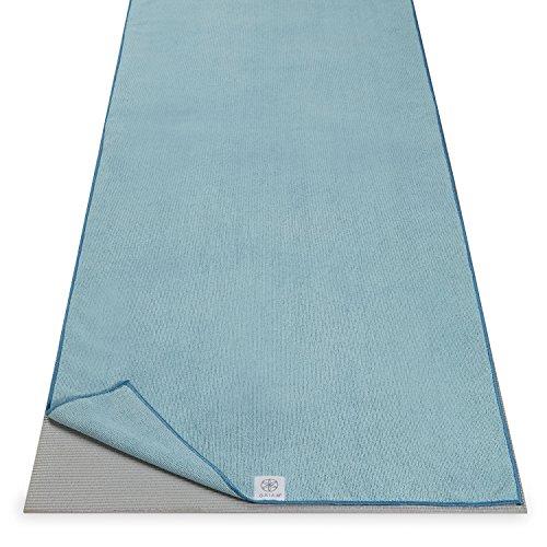 """Gaiam Microfiber Yoga Mat Towel, Riverside, 24"""" W x 68"""" L"""
