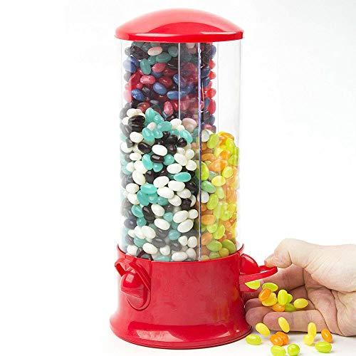 Invero® Dispensador de Caramelos Triple para máquina de Dulces, 3 Compartimentos, Ideal para Chocolates, chicles de Burbujas, Almacenamiento de Aperitivos y más