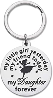 Daughter Keychain Birthday Gifts From Mom Dad To Daughter Gifts For Women Teens Birthday Wedding Bride Gifts My Little Gir...