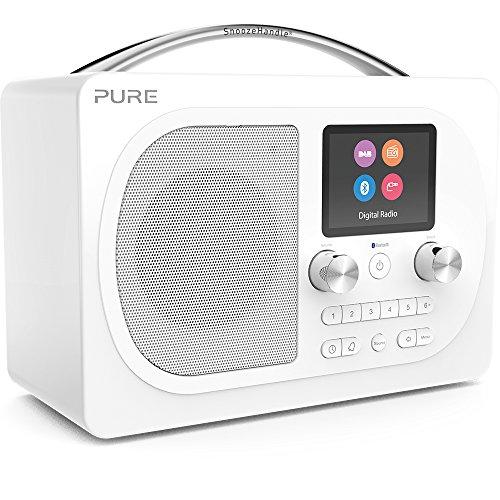 Pure Evoke H4 Digitalradio (DAB+, DAB, UKW, Bluetooth, Farbdisplay, Sleep-Timer, Weckfunktion, Schlummerfunktion, Countdown-Timer, 40 Senderspeicherplätze, AUX), Weiß