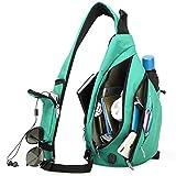 Magictodoor Sling Bag for Men Women Travel Packs Chest Backpack w/Anti-theft RFID Blocking Pocket & USB Charging Port Grey