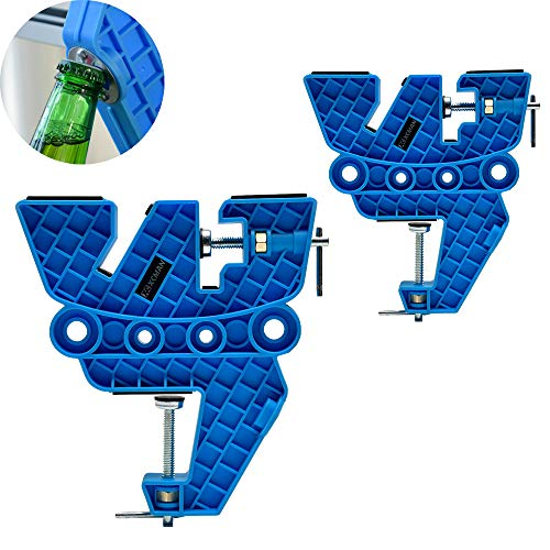 XCMAN Ski and Snowboard Vise for Tuning,Waxing and Repair,Set of Non-Slip Vice Grips with Horizontal and Vertical and Tilt Working Positions,Rubber Ski Brake Retainers,Pair