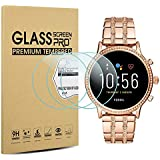 Suoman 3-Pack for Fossil Gen 5 Julianna HR Screen Protector Tempered Glass for Fossil Women Gen 5 Julianna HR Smartwatch [2.5D 9H Hardness] [Anti-Scratch]
